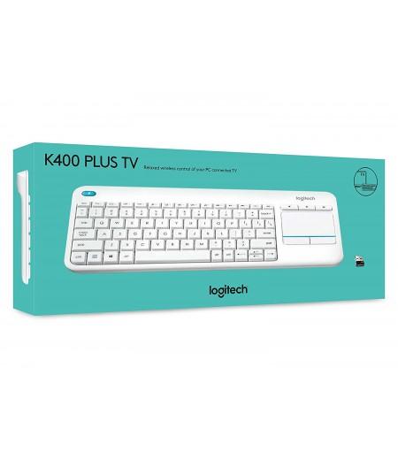 Logitech Wireless Touch K400 Plus Beyaz Klavye