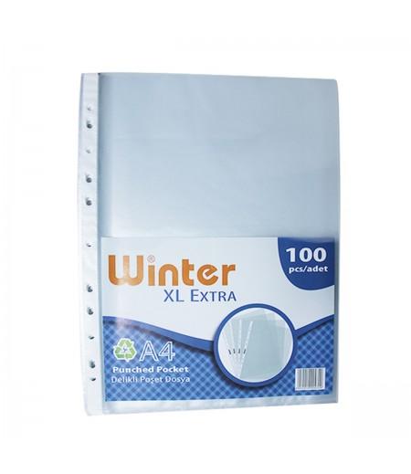 Winter  Poşet Dosya A4 XL 100lü