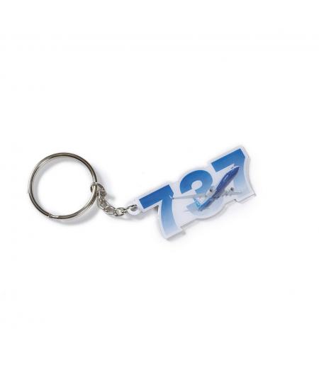 737 MAX Sky Keychain