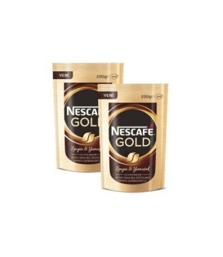 2 Paket x Nescafe Gold Eko Paket 200gr