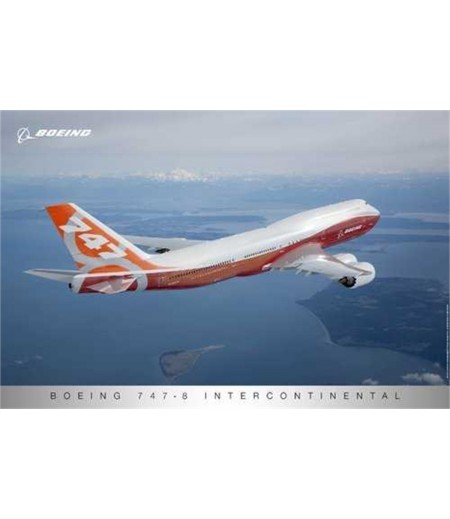 747-8IC Sunrise Livery Poster