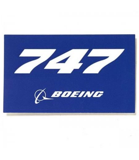 747 Blue Sticker