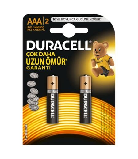 Duracell Alkalin AAA Pil 2li
