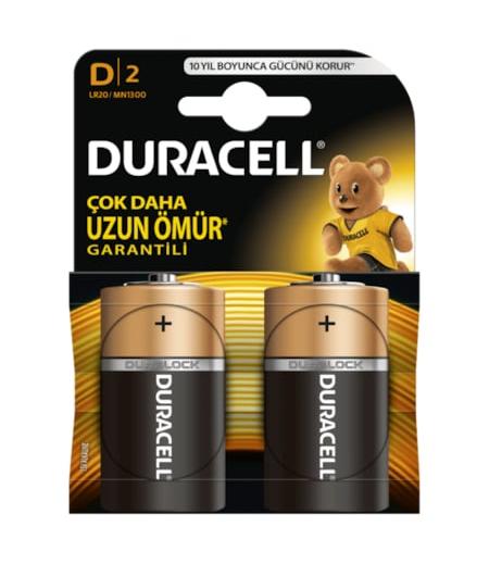 Duracell Alkalin D Büyük Boy Pil 2li