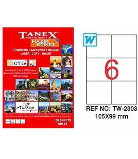 Tanex Etiket Laser 105X99 TW-2303