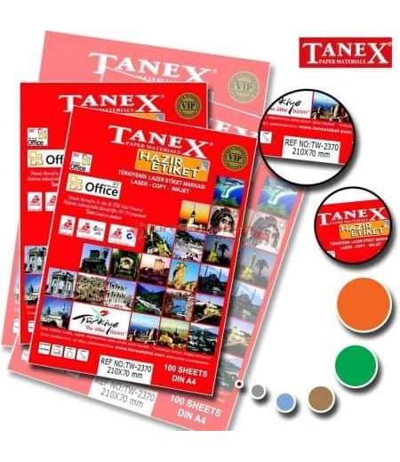 Tanex Etiket Laser 210x70 TW-2370
