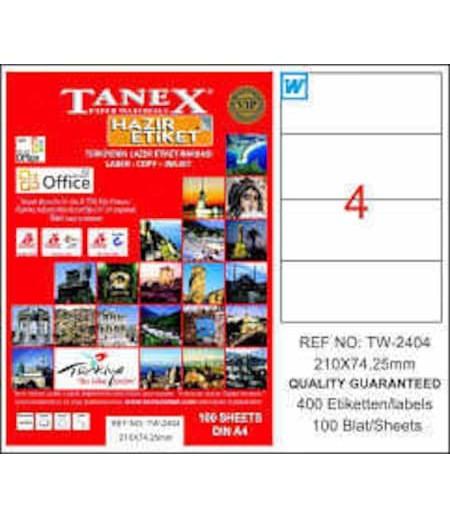Tanex Etiket Laser  210x74.25 TW-2404