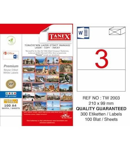Tanex Etiket Laser 210x99 TW-2003