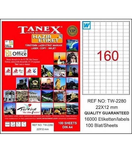 Tanex Etiket Laser 22X12 TW-2280