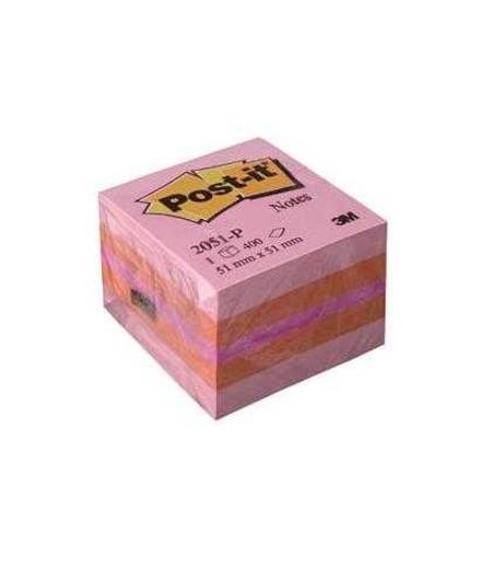 3M Post-it Mini Küp Pembe Tonları 400yp 52x52mm