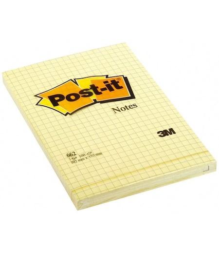 3M Post-it Not 102x152mm Kareli Sarı 100yp