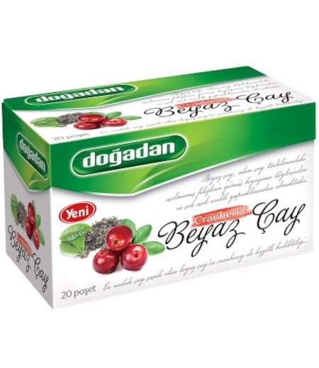 Doğadan Beyaz Çay Cranberry 20li
