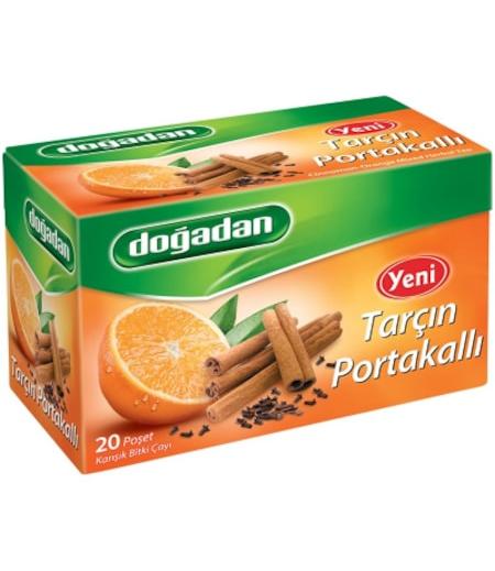Doğadan Tarçın-Portakal Bitki Çayı 20li