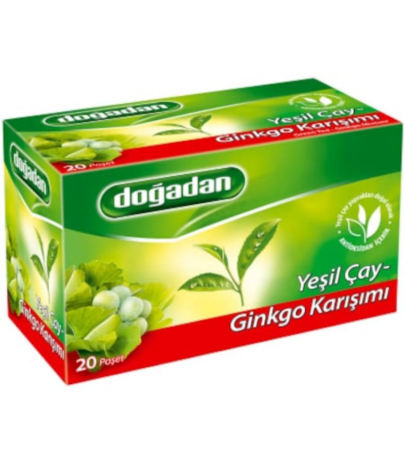 Doğadan Yeşil Çay Ginkgolu Karışımı 20li
