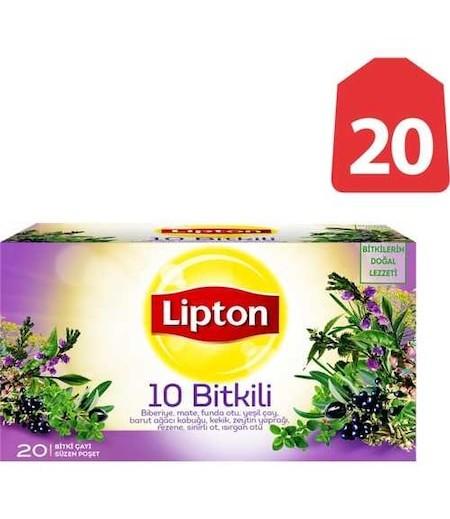 Lipton 10 Bitkili Bardak Poşet 20li