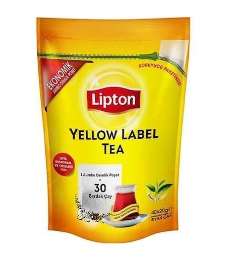 Lipton Jumbo Demlik Poşet Çay Yellow Label 20gr 40lı
