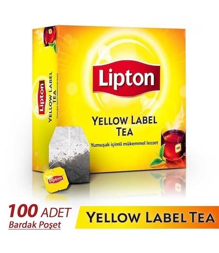 Lipton Yellow Label Bardak Poşet Çay 100lü