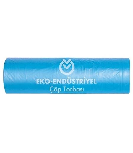 Koroplast Çöp Torbası Eko Endüstriyel Jumbo 80x110 Mavi 10lu