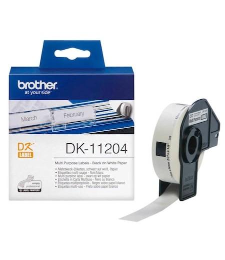 Brother P-Touch Çok Amaçlı Etiket 17mmx54mm DK11204