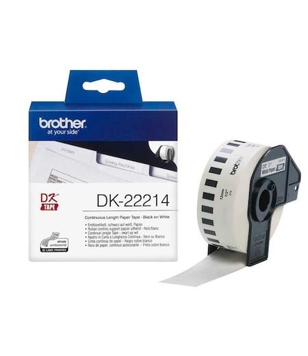 Brother P-Touch Sürekli Etiket 12mmx30.48m DK22214