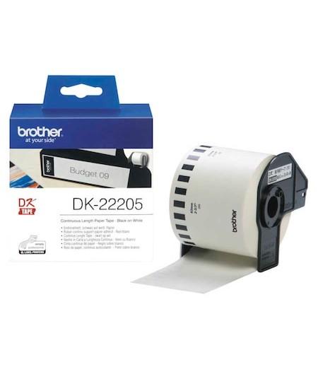 Brother P-Touch Sürekli Etiket  62mmx30.48m DK-22205