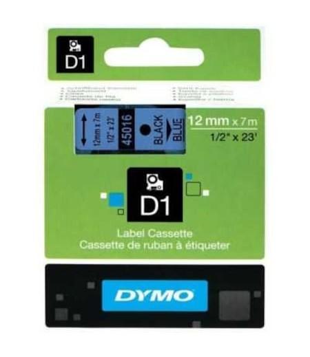 Dymo D1 12mmx7m  Mavi/Siyah 45016