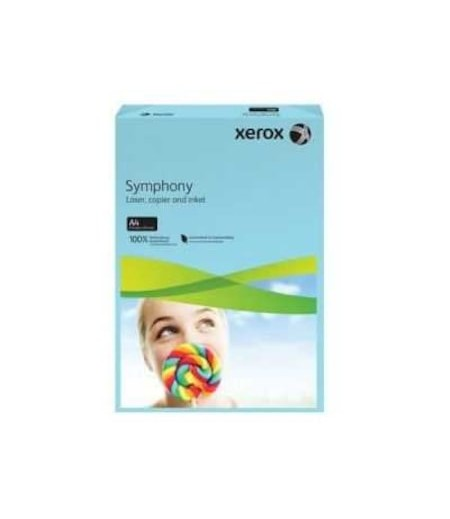 Xerox Symphony A4 Renkli Fotokopi Kağıdı 80gr Su Mavisi