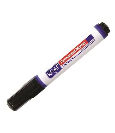 Kraf Permanent Koli Kalemi Yuvarlak Uç Siyah