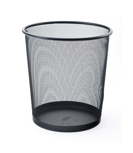 Mas Tam Delikli Çöp Kovası Siyah