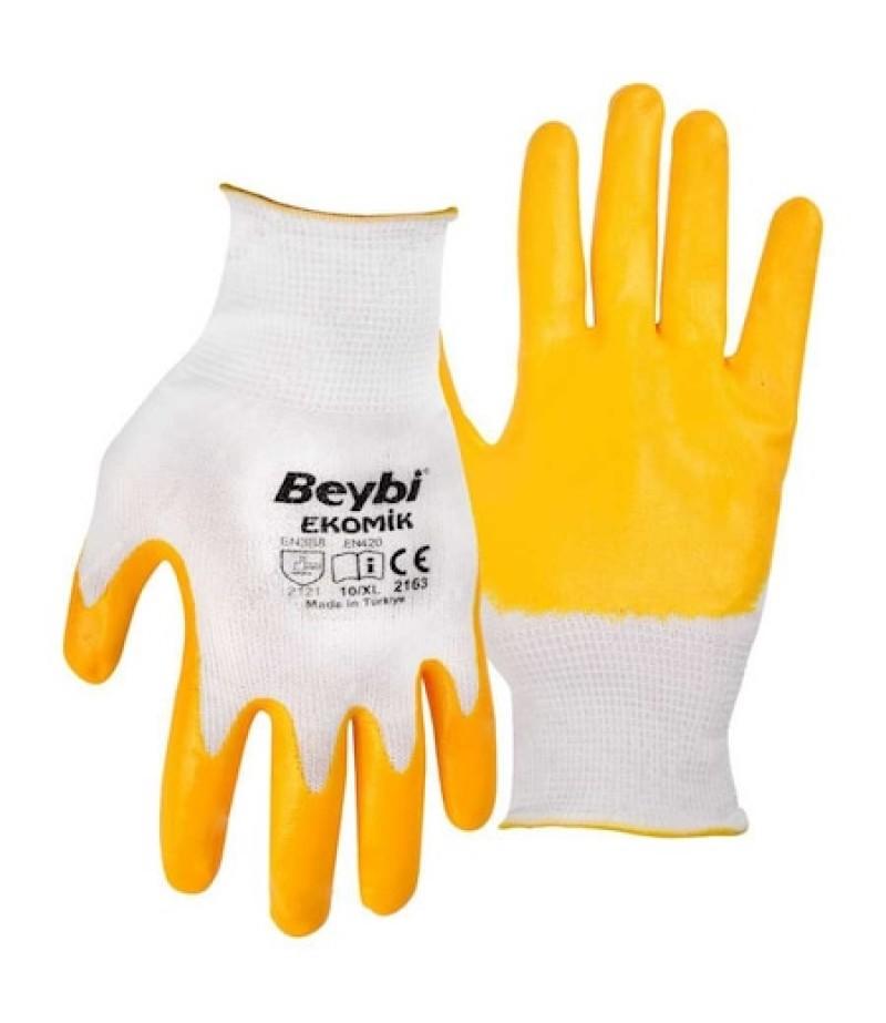Beybi Nitril İş Eldiveni Sarı