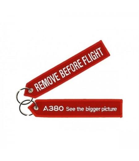 A380 See The Bigger Picture Kırmızı Anahtarlık