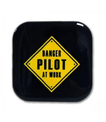 Danger Pilot At Work Bardak Altlığı