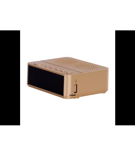 Goldmaster Cock GOLD Bluetooth Radyolu Alarm Saat