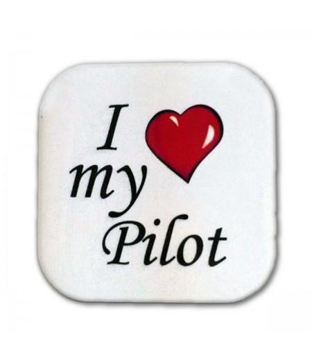 I love My Pilot Bardak Altlığı