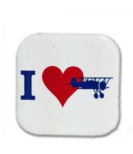 I love Uçak  Bardak Altlığı