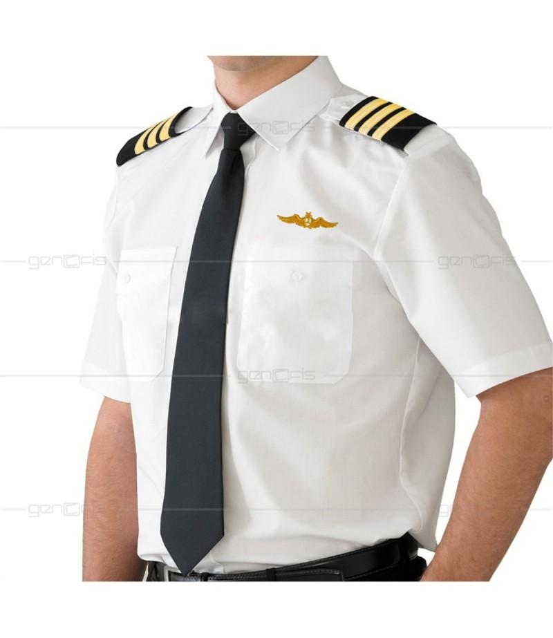 Pilot Gömleği Kısa Kol